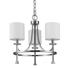 Acclaim Lighting IN11041PN - Kara Indoor 3-Light Chandelier W/Shades & Crystal Bobeches In Polished Nickel