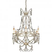 Quoizel RMS5006AH - Six Light Silver Up Chandelier