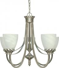 "Nuvo 60/460 - Triumph - 5 Light Cfl - 24"" - Chandelier - (5) 13W GU24 Lamps Included"