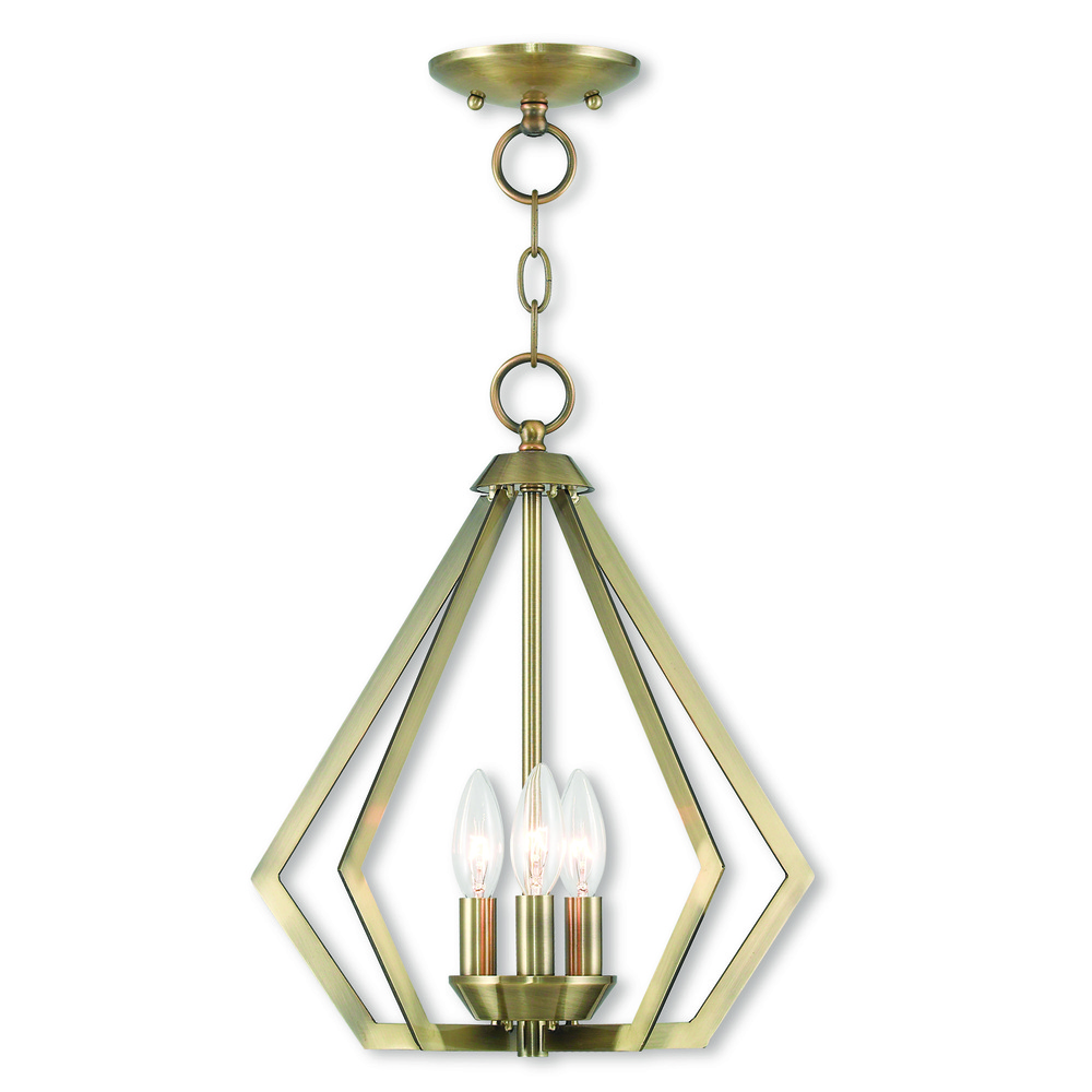 3 Light AB Mini Chandelier/Ceiling Mount