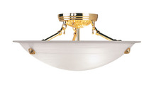 Livex Lighting 4273-02 - 3 Light Polished Brass Ceiling Mount