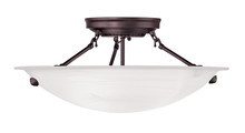 Livex Lighting 4273-07 - 3 Light Bronze Ceiling Mount