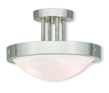 Livex Lighting 73955-91 - 2 Light Brushed Nickel Ceiling Mount