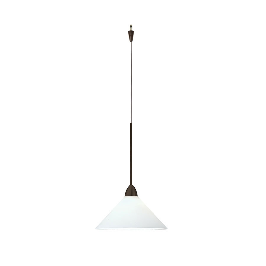 Jill 1 light quick connect pendant with white cased glass in dark bronze
