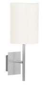 Eglo 82809A - 1x60W Wall Light w/ Aluminum Finish & White Shade