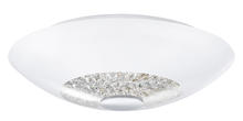 Eglo 92711A - 2x75W Ceiling Light w/ Chrome Finish & White Coated Glass w/ Clear Crystals