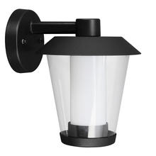Eglo 94215A - 1x3.7W LED Outdoor Wall Light w/ Black Finish & Clear & White Glass