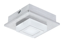 Eglo 94505A - 1x3.3W LED Ceiling Light w/ Brushed Aluminum Finish & White Plastic Cover