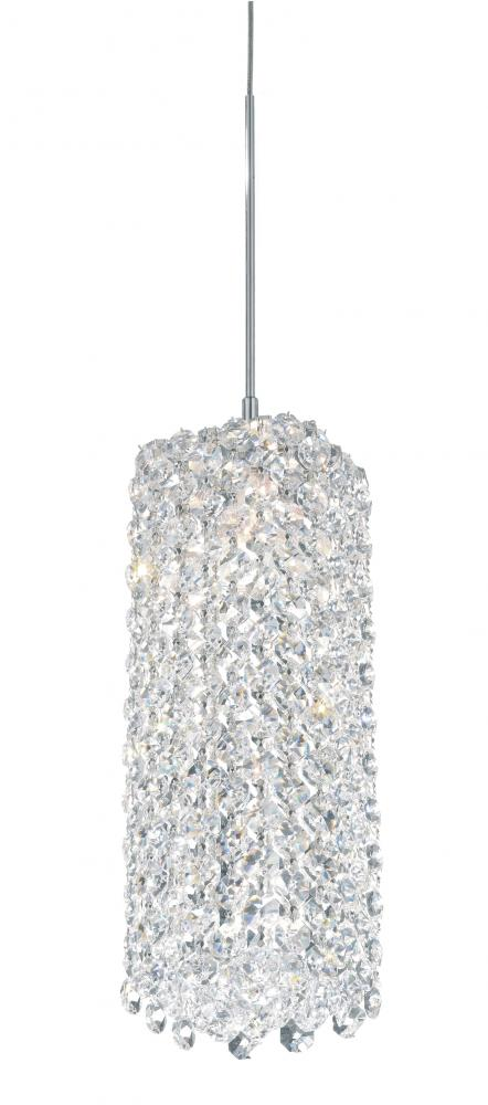 Refrax 1 Light LOW VOLT Pendant in Stainless Steel with Clear Spectra Crystal
