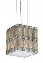 Schonbek 2246A - Quantum 8 Light 110V Pendant in Stainless Steel with Clear Spectra Crystal