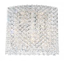 Schonbek REW1009A - Refrax 5 Light 110V Wall Sconce in Stainless Steel with Clear Spectra Crystal