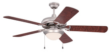 "Craftmade CIU52BN5 - Civic Unipack 52"" Ceiling Fan with Blades and Light in Brushed Satin Nickel"