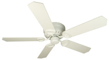 "Craftmade K10198 - Pro Universal Hugger 52"" Ceiling Fan Kit in White"