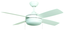 "Craftmade LAV52MWW4LK - Laval 52"" Ceiling Fan with Blades and Light in Matte White"