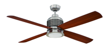 "Craftmade MET56BNK4 - Metron 56"" Ceiling Fan with Blades and LED Light Kit in Brushed Polished Nickel"
