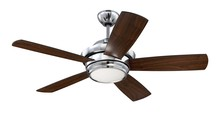 "Craftmade TMP44CH5 - Tempo 44"" Ceiling Fan with Blades and LED Light Kit in Chrome"