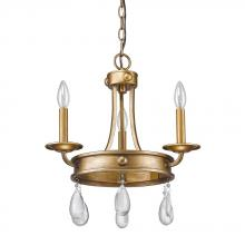 Acclaim Lighting IN11027AG - Krista Indoor 3-Light Mini Chandelier W/Crystal Pendants In Antique Gold
