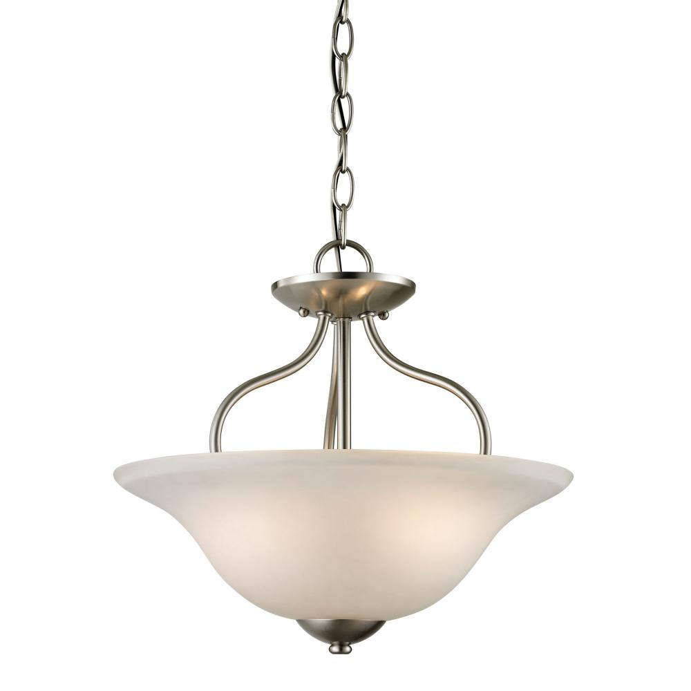 Conway 2 Light Semi-Flush In Brushed Nickel