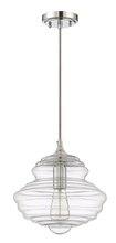 Jeremiah P610CH1 - 1 Light Mini Pendant with Cord in Chrome