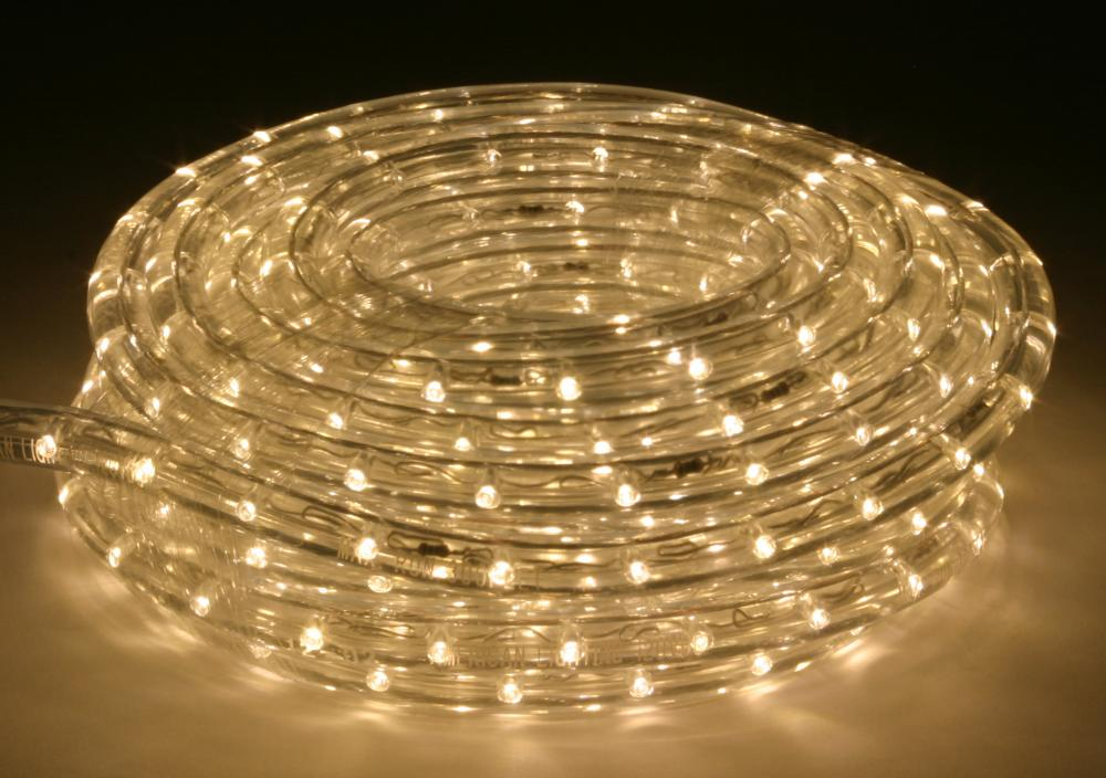 30 foot warm white 3000 kelvin led flexible rope light kit with 30 foot warm white 3000 kelvin led flexible rope light kit with mounting clips aloadofball Image collections