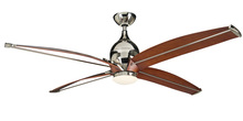 "Ellington Fan TRD60PLN4 - Tyrod 60"" Ceiling Fan with Blades and LED Light Kit in Polished Nickel"