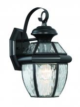 Lighting One US V13-NYW8407K - Newberry Water Glass Medium Wall Lantern in Mystic Black