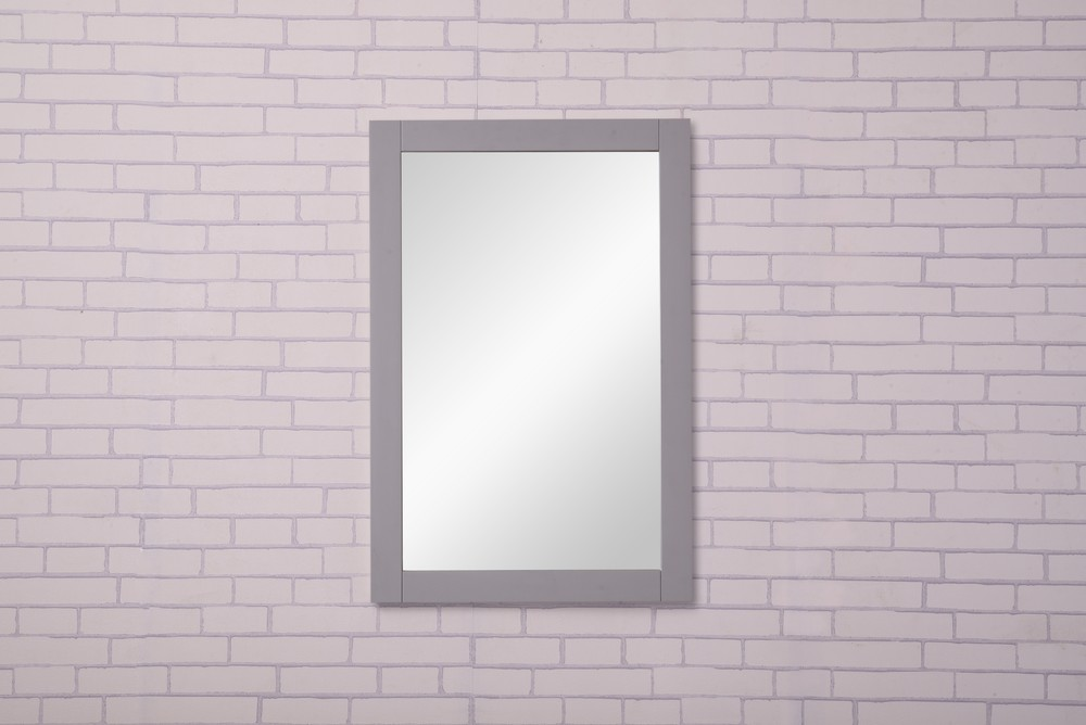Saturn 22 in. Contemporary Mirror in Light Grey