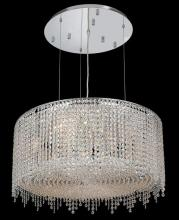 Elegant 1393D26C-CL/RC - 1393 Moda Collection Hanging Fixture D26in H11in Lt:9 Chrome Finish  (Royal Cut Crystals)