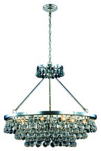 Elegant 1509D32PN - Bettina 10 light Polished Nickel Pendant Clear Royal Cut Crystal