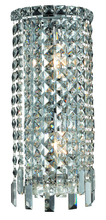 Elegant V2031W8C/RC - 2031 Maxime Collection Wall Sconce D:8in H:18in E:4in Lt:2 Chrome Finish (Royal Cut Crystals)