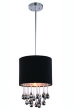Elegant 2105D10C/RC - 2105 Metro Collection Pendant D:10in H:14.6in Lt:1 Chrome Finish (Royal Cut Crystals)