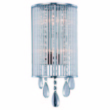 Elegant 2115W7C/RC - 2115 Noble Collection Wall Sconce D:7in H:15.35in E:3.54in Lt:2 Chrome Finish (Royal Cut Crystals)