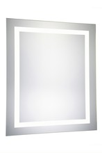 Elegant MRE-6031 - 4 Sides LED Hardwired Mirror Rectangle W32H40 Dimmable 5000K