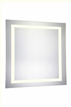 Elegant MRE-6040 - 4 Sides LED Hardwired Mirror Rectangle W36H36 Dimmable 3000K