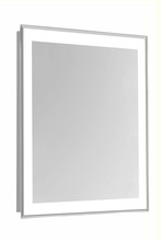 Elegant MRE-6104 - 4 Sides LED Edge Hardwired Mirror Rectangle W24H40 Dimmable 5000K