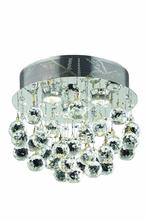 Elegant V2006F13C/RC - 2006 Galaxy Collection Flush Mount D:13in H:12in Lt:3 Chrome Finish (Royal Cut Crystals)