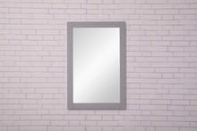 Elegant VM-2002 - Saturn 22 in. Contemporary Mirror in Light Grey