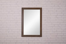 Elegant VM-2003 - Xylem 22 in. Contemporary Mirror in Weathered Oak