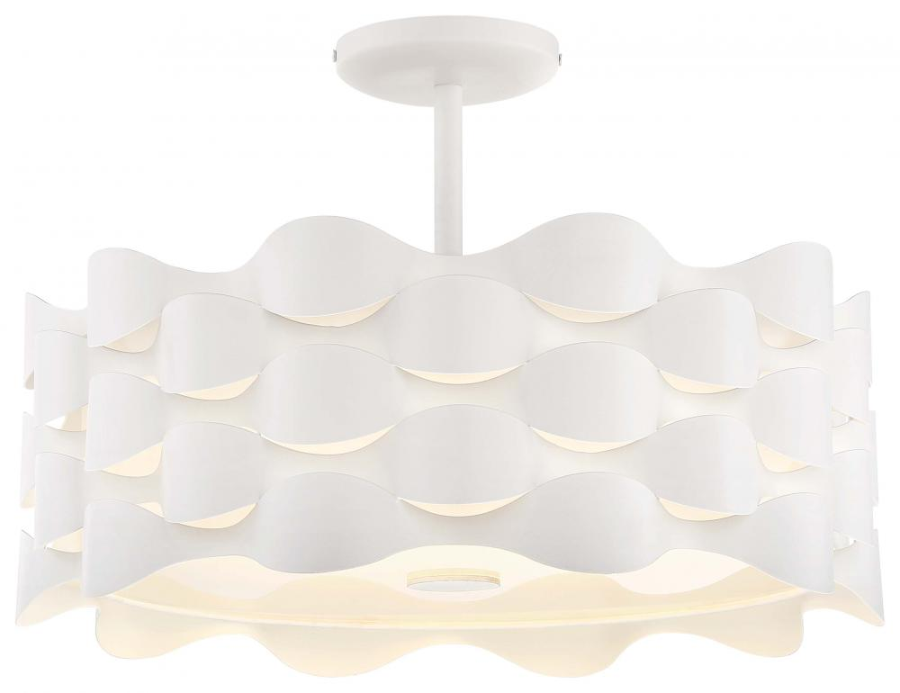 "COASTAL CURRENT 18"" Semi Flush LED"