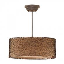 Uttermost 21153 - Uttermost Brandon 3 Light Brown Drum Pendant