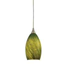 ELK Lighting 10510/1GRS - Earth 1 Light Pendant In Satin Nickel And Grass