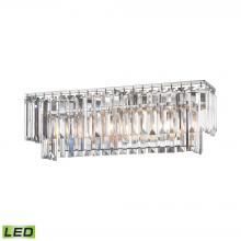 ELK Lighting 15212/3-LED - Palacial 3-Light Vanity Sconce in Polished Chrome with Clear Crystal - Includes LED Bulbs