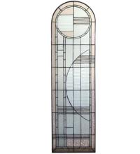 "Meyda Tiffany 22868 - 15""W X 54""H Arc Deco Left Sided Stained Glass Window"