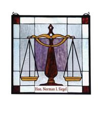 "Meyda Tiffany 79886 - 18""W X 18""H Personalized Judicial Stained Glass Window"