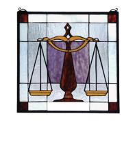 "Meyda Tiffany 81551 - 18""W X 18""H Judicial Stained Glass Window"