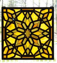 "Meyda Tiffany 98069 - 22""W X 22""H Starburst Stained Glass Window"