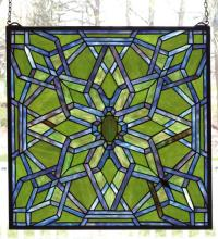 "Meyda Tiffany 98070 - 22""W X 22""H Starburst Stained Glass Window"